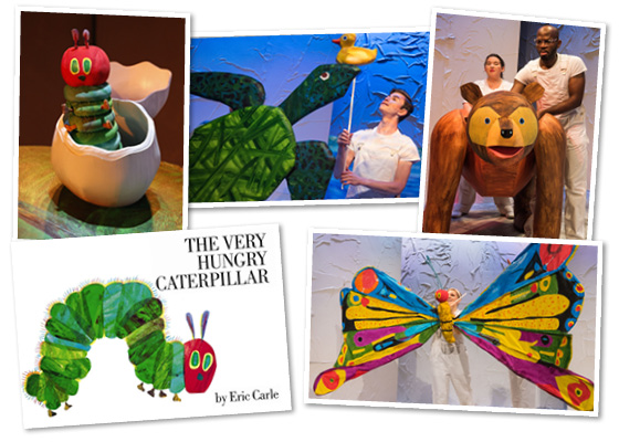 The Very Hungry Caterpillar Show collage