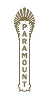 Paramount Theatre blade logo - gold